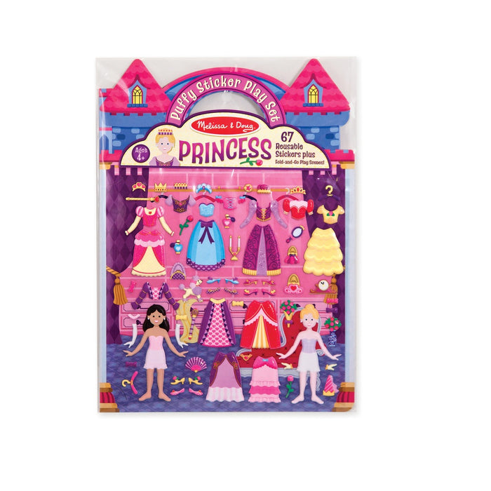 Melissa & Doug 9100 Princess Puffy Stickers Play Set, Plastic