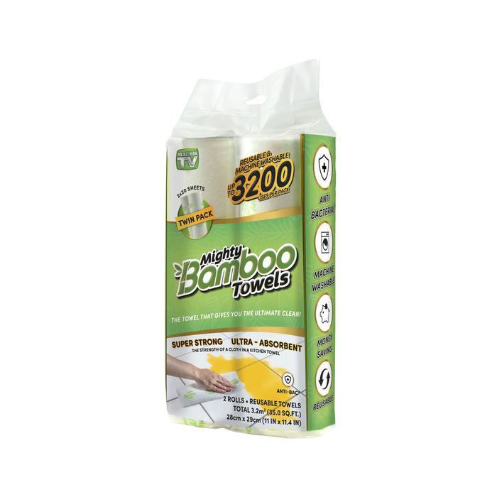 Mighty Bamboo MBT2PK12 As Seen On TV Absorbent Towel, 20 Sheet