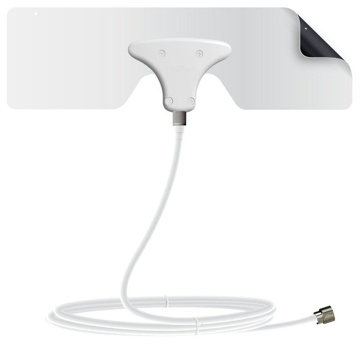 Mohu MHUMH110543 Leaf Metro TV Antenna, White, 25 Mile Range