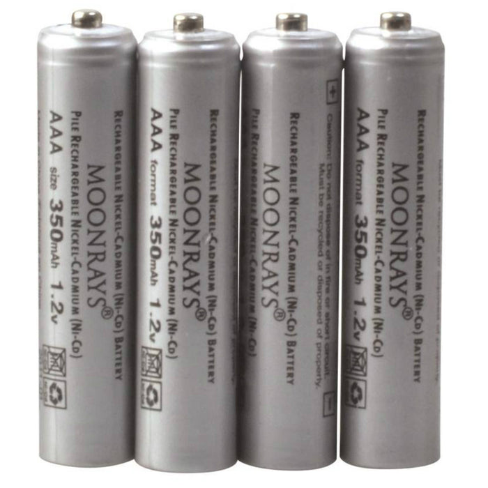 Moonrays 97146 Rechargeable Solar Battery, 350 mAh AAA Battery