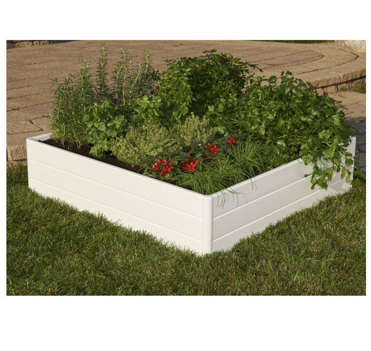 NuVue 26007 Raised Garden Bed, White