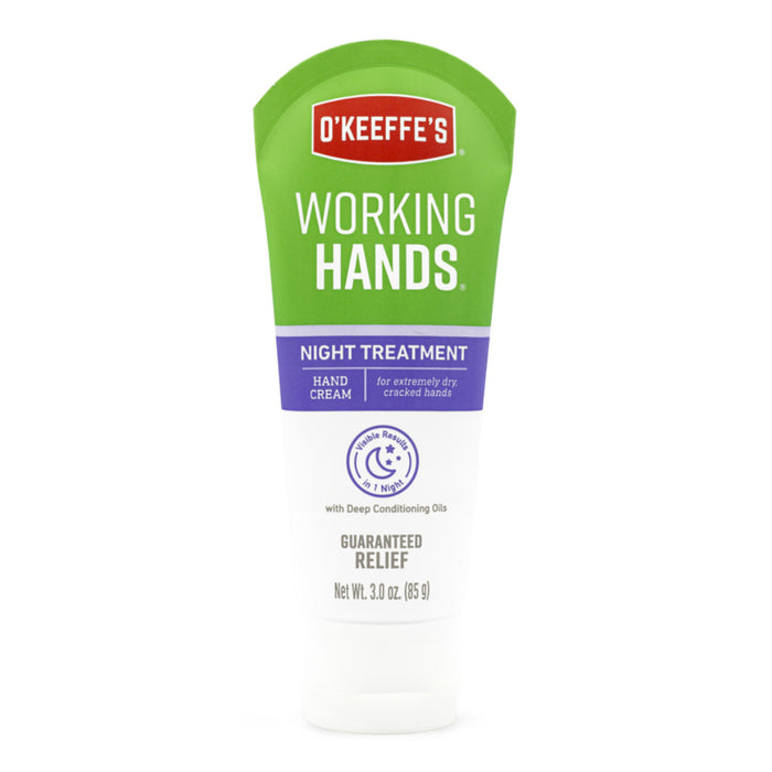 O'Keeffe's K3200502 Working Hands Night Treatment Hand Cream, 3 Oz