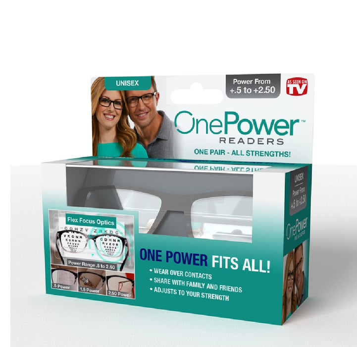 OnePower PR-RB4 As Seen On TV  Reading Glasses, Black