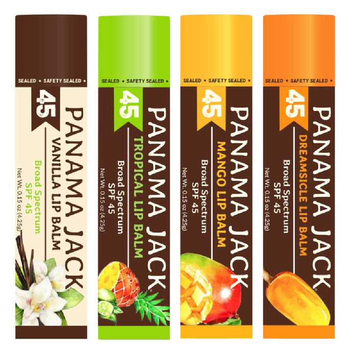 Panama Jack 602 SPF 45 Sunscreen Lip Balm, 0.15 Oz