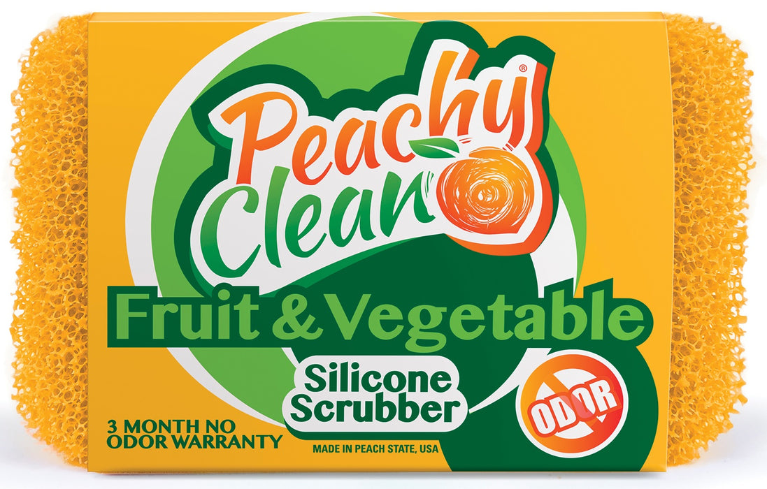 Peachy Clean 8353 Dish Fruit & Vegetable Scrubbers, Silicone