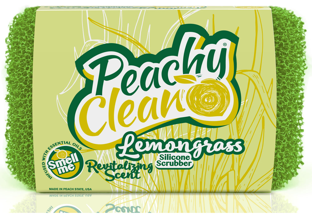 Peachy Clean 8371 Dish Scrubber, Lemongrass Scent