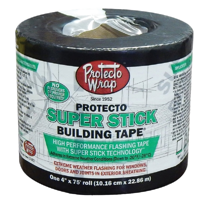 Protecto Wrap 844004SW High-Performance Super Stick Building Tape, 75'