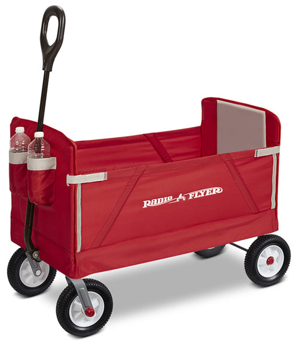 Off Road Wagon >> Radio Flyer 3955 Off Road Ez Fold Collapsible Wagon Fabric Steel