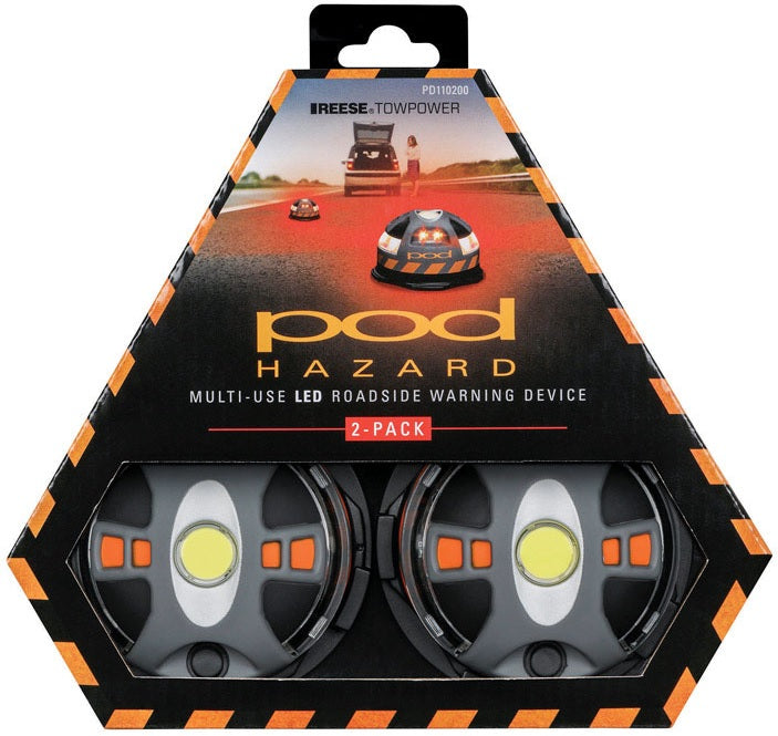 Reese Towpower PD110200 Pod Hazard Lights, Black