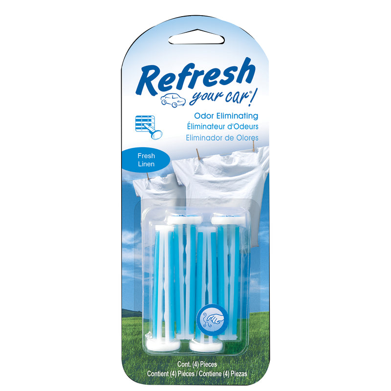 Refresh Your Car E301334600 Fresh Linen Car Vent Clip, 4 Pack