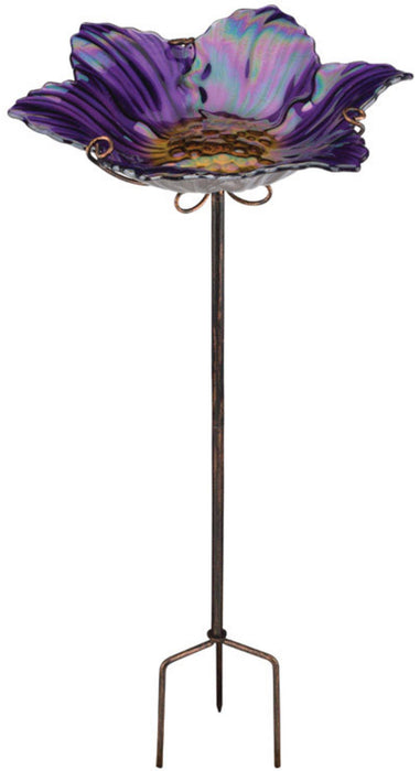 Regal Art & Gift 10920 Bird Bath With Stake, Purple