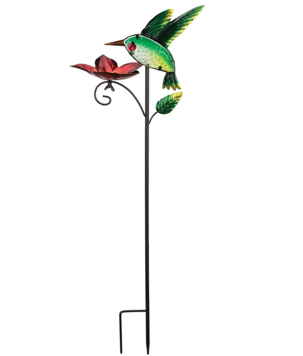 Regal Art & Gift 11974 Bird Feeder Outdoor Garden Stake, Green