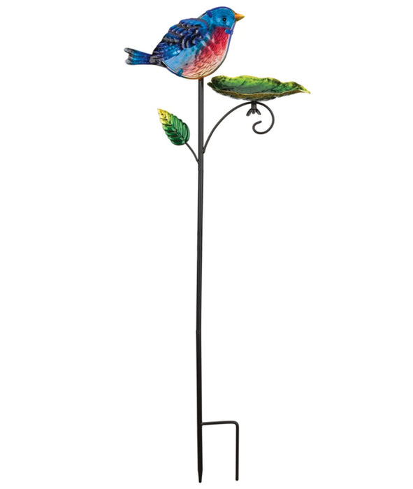 Regal Art & Gift 11971 Bird Feeder Outdoor Garden Stake, Blue