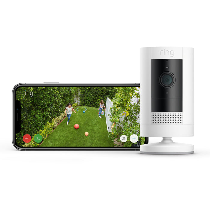 Ring 8SC1S9-WENO Stick Up Indoor/Outdoor Standard Security Camera, White