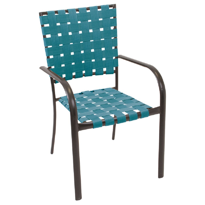 Rio Brands MW34-420PK44 Stackable Bistro Chair, Steel, Black/Teal