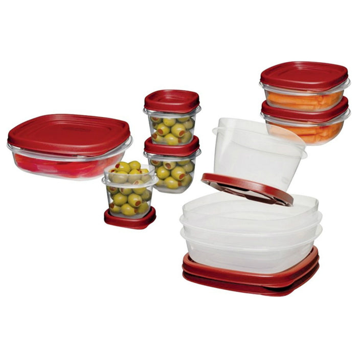 Rubbermaid 2066483 Food Storage Container Set, Plastic, 18 Piece