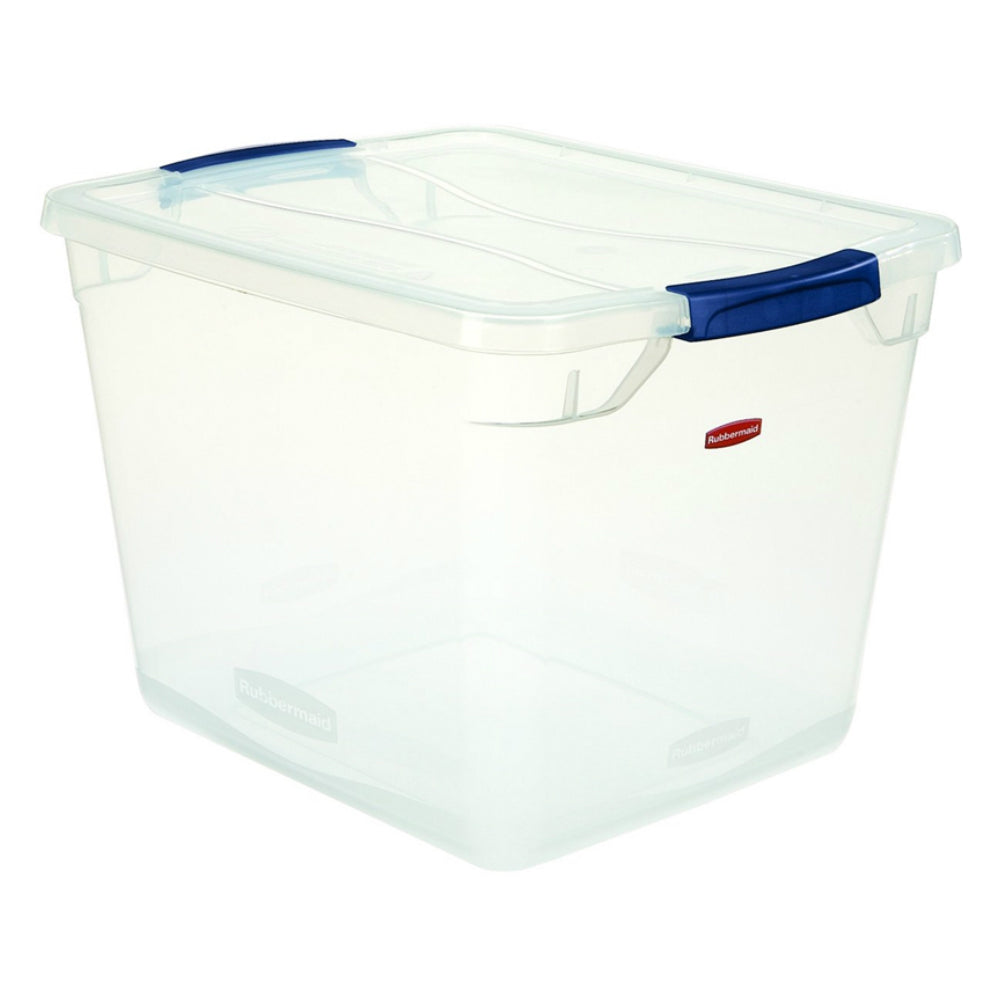 Rubbermaid Rmcc300014 Clever Store Storage Container, 30 Quart