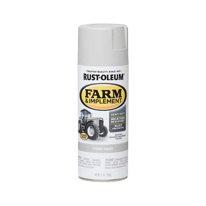 Rust-Oleum 280138 Specialty Farm & Implement Rust Prevention Paint, Ford Gray, 12 Oz