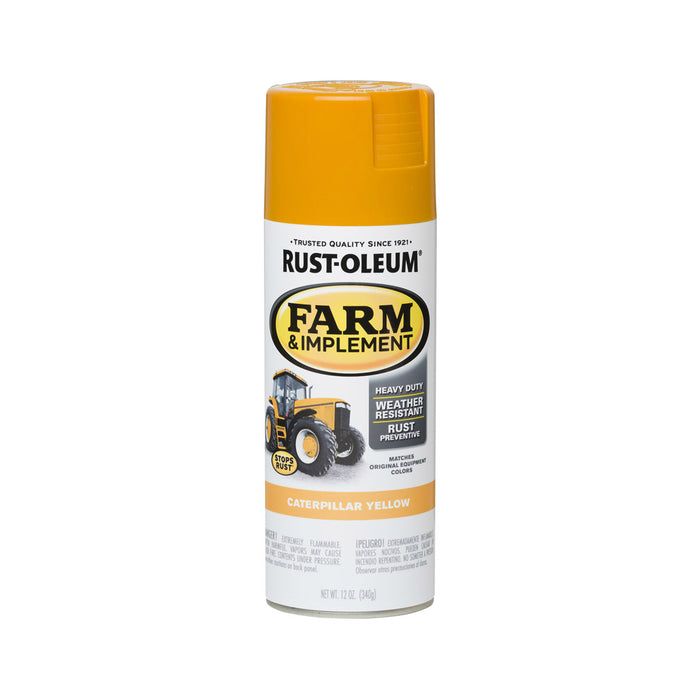Rust-Oleum 280140 Specialty Farm & Implement Rust Prevention Spray Paint, Caterpillar Yellow, 12 Oz