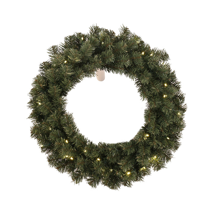 Santas Forest 61928 Christmas Pre-lit Wreath, 24 In
