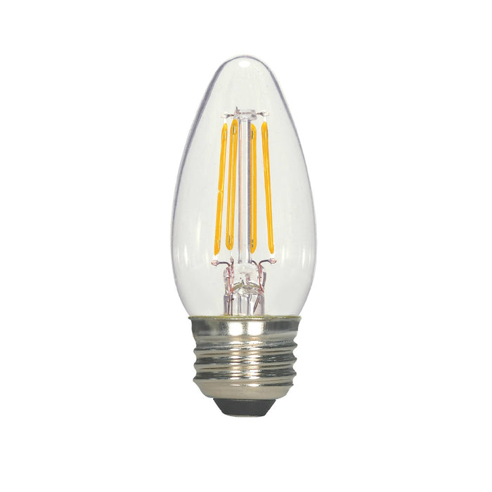 Satco S21707 B11 LED Light Bulb, Warm White, 5.5 Watts