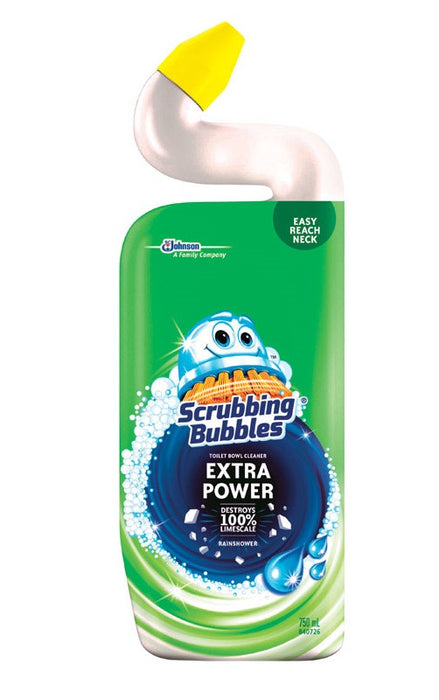 Scrubbing Bubbles 71585 Extra Power Toilet Bowl Cleaner and Delimer, Rainshower, 24 Oz
