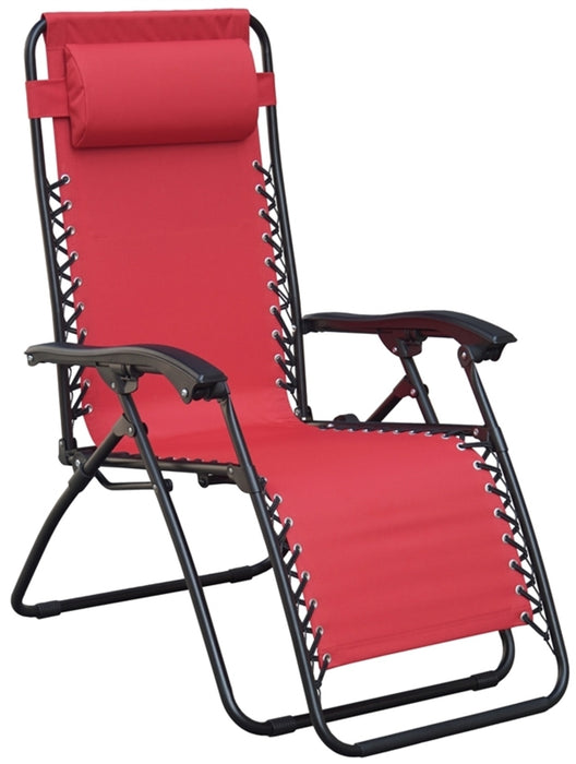 Seasonal Trends F5325O-1BKOX17 Adjustable Relaxer Chair With Head Rest, Red