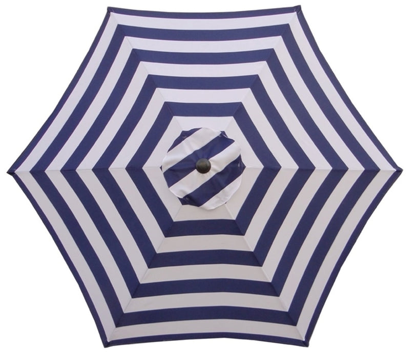 Seasonal Trends UM90BKOBD18/WT Market Umbrella, Navy/White, 9'