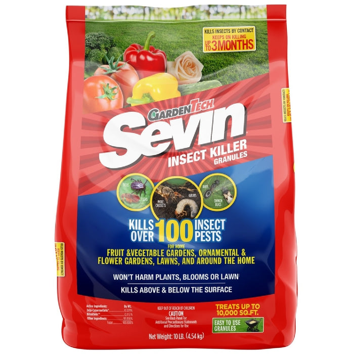 Sevin 100530128 Gardentech Lawn Insect Granules, 10 Lb