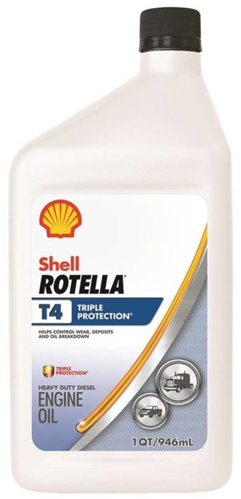 Shell Rotella T4 >> Shell 550049483 Rotella T4 Triple Protection Motor Oil 1 Quart