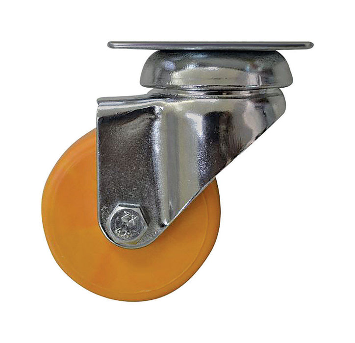 Shepherd Hardware 6273 Swivel Caster, Polypropylene, Yellow, 2