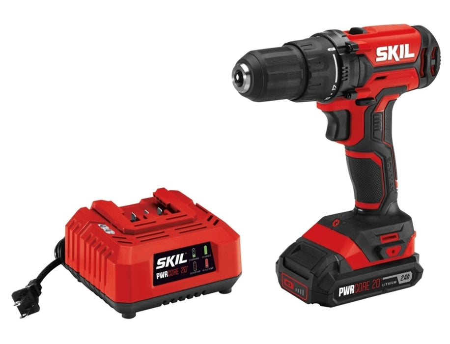Skil DL527502 Cordless Drill Driver Kit With Charger, 20 Volt