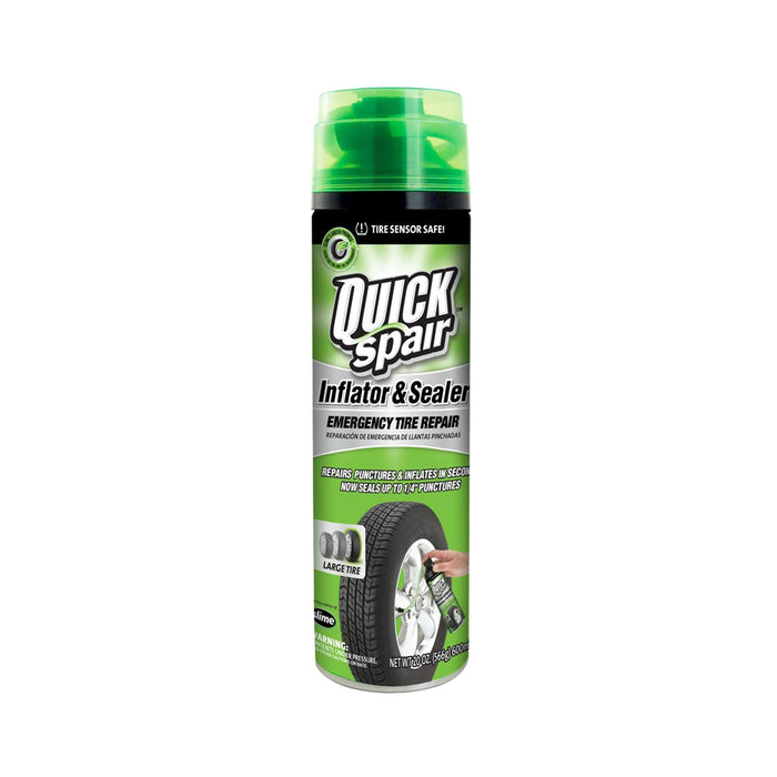 Slime 60190 Quick Spair Emergency Tire Sealant, 20 Oz