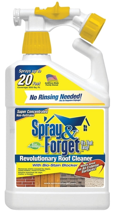 Spray & Forget SFRCHEQ06 Concentrated Roof & Exterior Surface Cleaner, 32 Oz