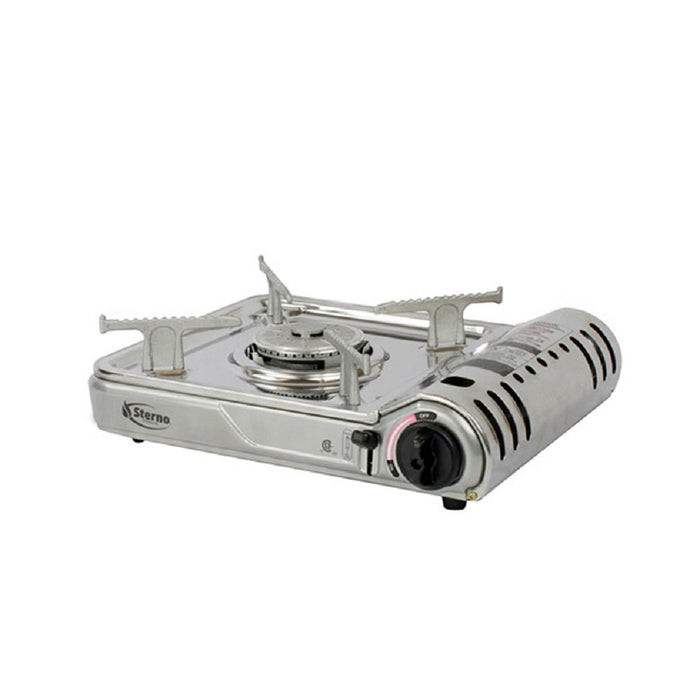 Sterno 50188 Butane Stove, Silver, Stainless Steel