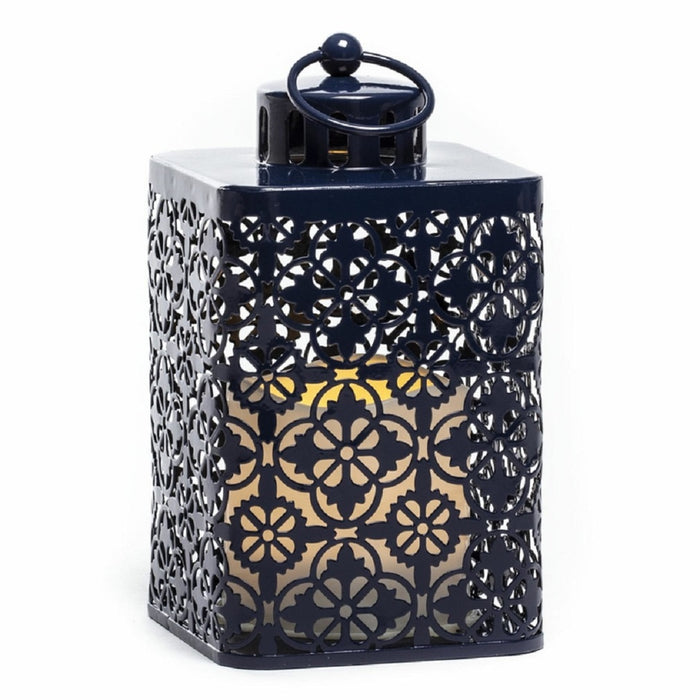 Sterno Home GL42709 LED Flameless Lantern, Metal, Assorted Color
