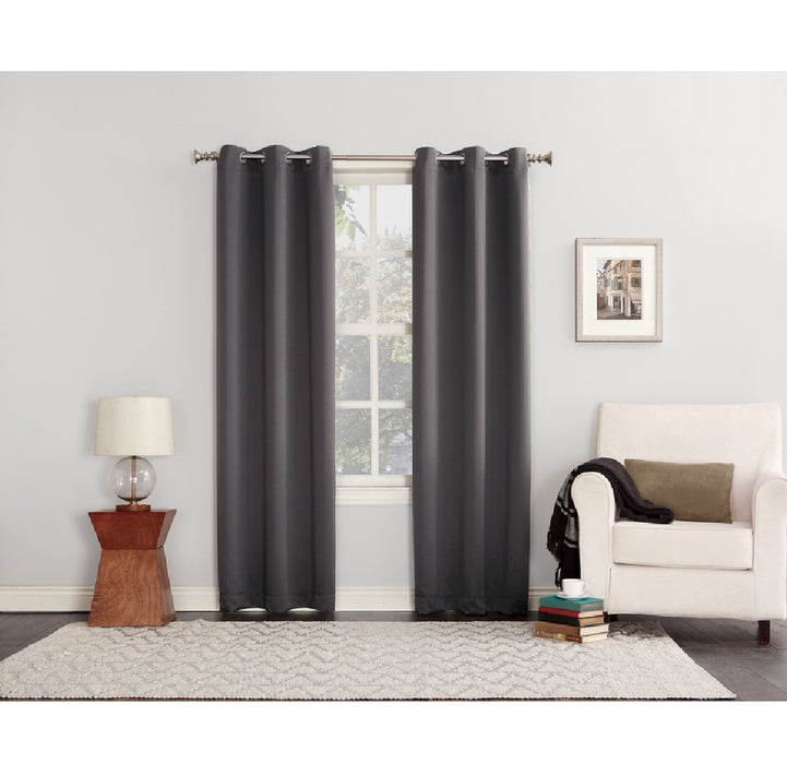 Sun Zero AC-NORWICH84CHR Norwich Blackout Window Shade, Gray