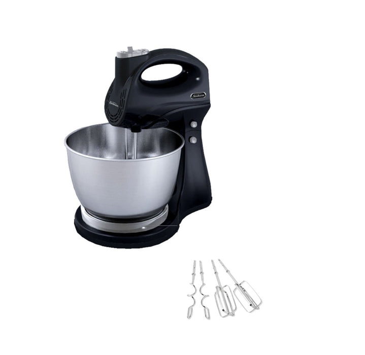 Sunbeam FPSBHS0302-NP Hand & Stand 5-Speed Mixer, Black