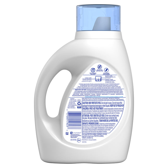 Tide 04182 Free & Gentle Liquid Laundry Detergent, 46 Oz