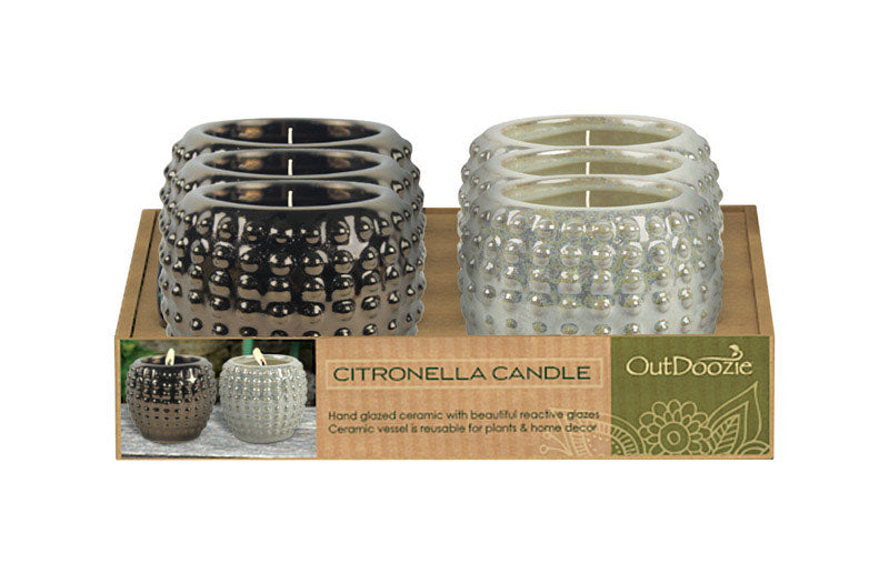 Trendspot CH00024-PDQ6X Dotted Candle Holder, Ceramic, Assorted, 3.5