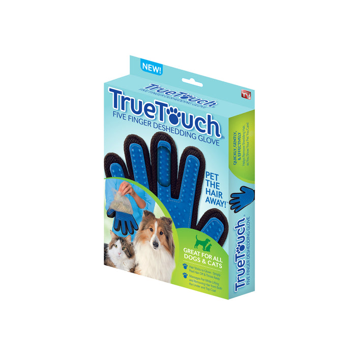 True Touch TU011124 As Seen On TV For Cat/Dog Blue Grooming Mitt, Blue
