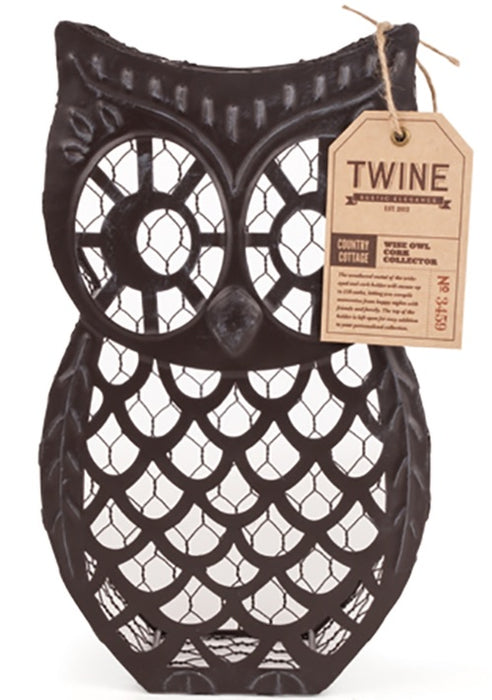 Twine 3459 Wise Owl Cork Holder, Brown