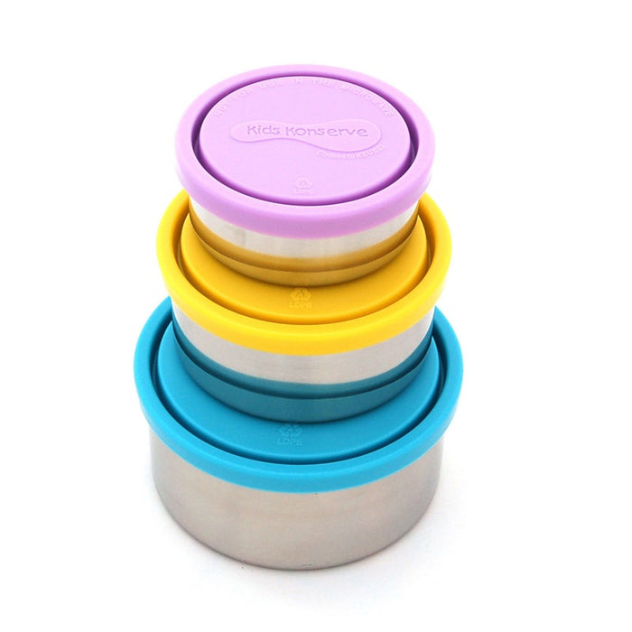 U Konserve KK098 Kids Konserve Food Storage Container, Set of 3