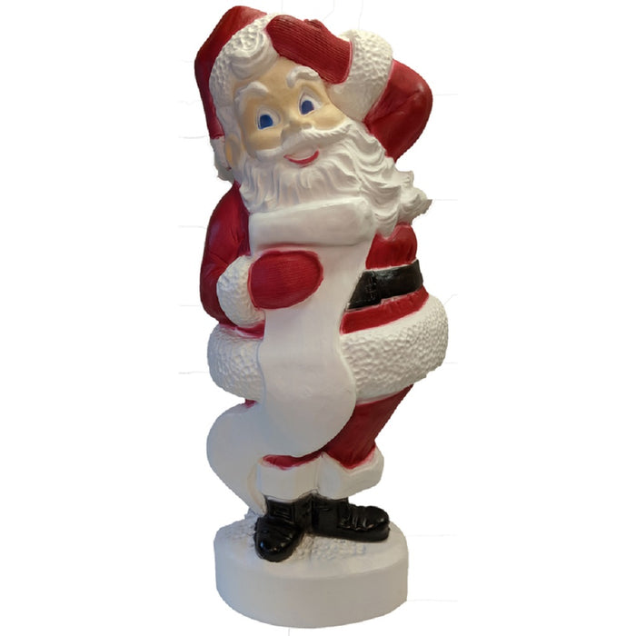 Union Products 75180 Blow Mold Christmas Santa, Red & White, 43 inch