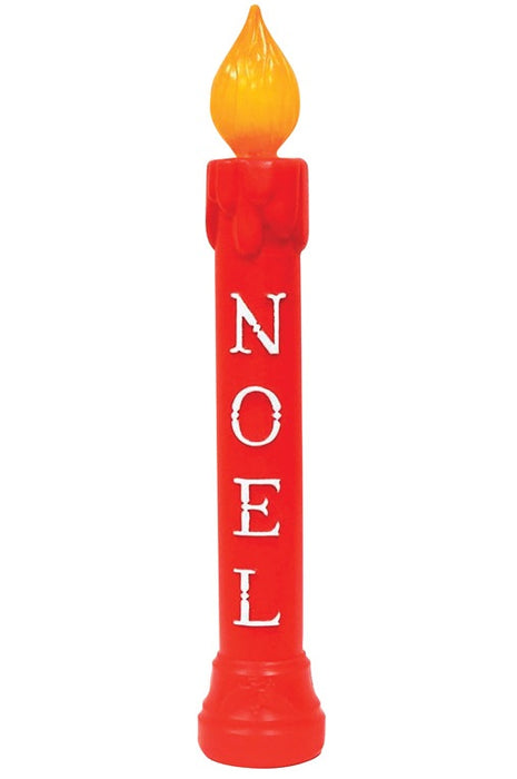 Union Products 77330 Christmas Lighted Noel Candle, Red, 39