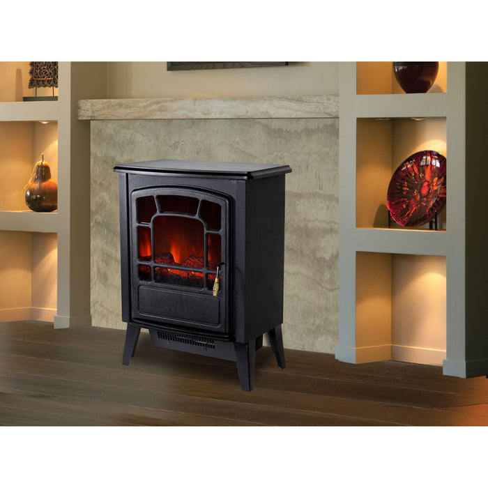Warm House RSF-16982 Bern Freestanding Electric Fireplace, Black