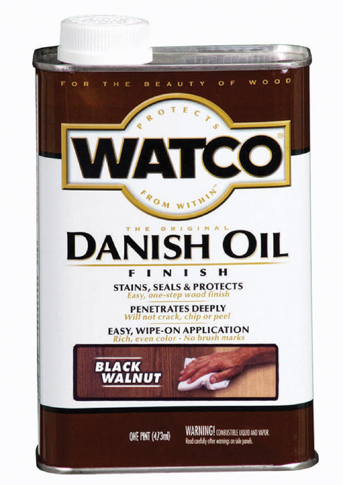 Watco 65351 Oil-Based Danish Oil, Black Walnut, 1 Pint