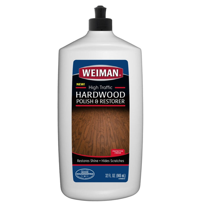 Weiman 523 High Traffic Hardwood Floor Polish & Restorer, 32 oz