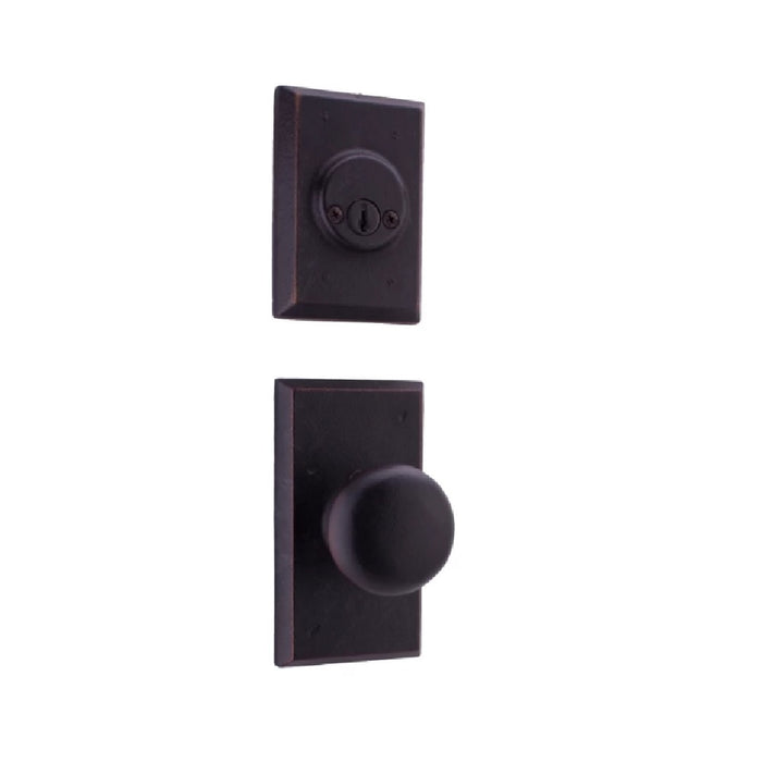 Weslock 07802--F1SL2D Wexford Interior Double Cylinder Handleset, Oil Rubbed Bronze