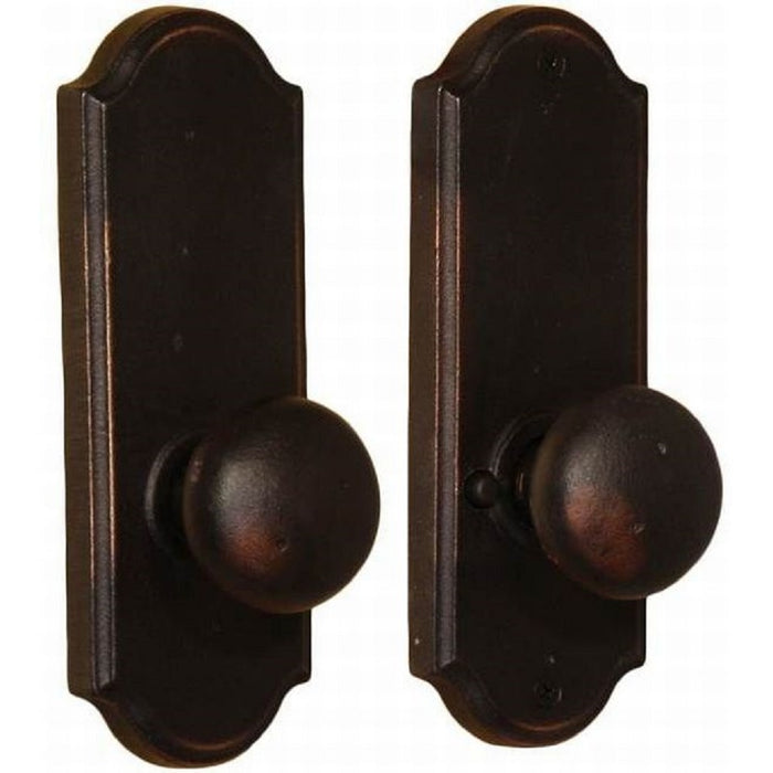 Weslock L7210F1F1SL20 Left Hand Wexford Privacy Door Knob, Oil Rubbed Bronze